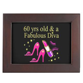 60 YRS OLD & A DAZZLING DIVA MEMORY BOX