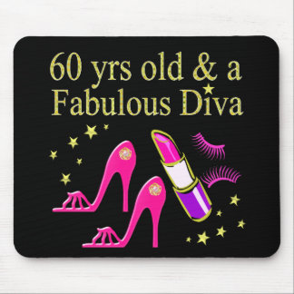 60 YRS OLD & A DAZZLING DIVA MOUSE PAD