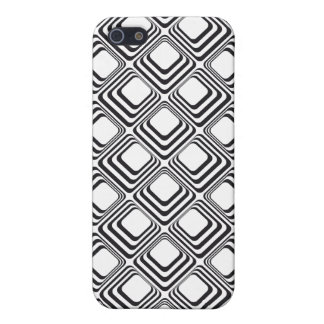 60's black and white squares iPhone 5 covers