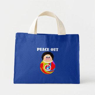 60's Child Funny Cartoon Peace Kid Mini Tote Bag