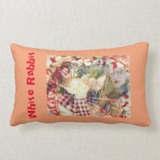 60's Concert Poster White Rabbit Pillow