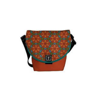 60s Design 01 Sixties Floral Flower Tiled Repeat Commuter Bag