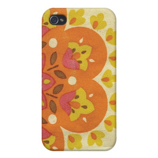 60's Floral iPhone 4/4S Cases