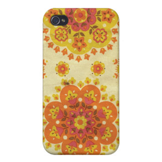 60's Floral Pattern Covers For iPhone 4