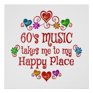 60s Happy Place Poster