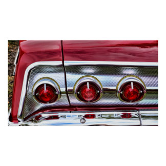 60's Impala Taillights Poster