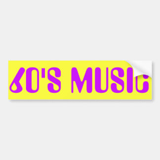 60'S MUSIC BUMPER STICKER