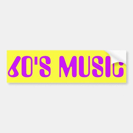60'S MUSIC BUMPER STICKERS