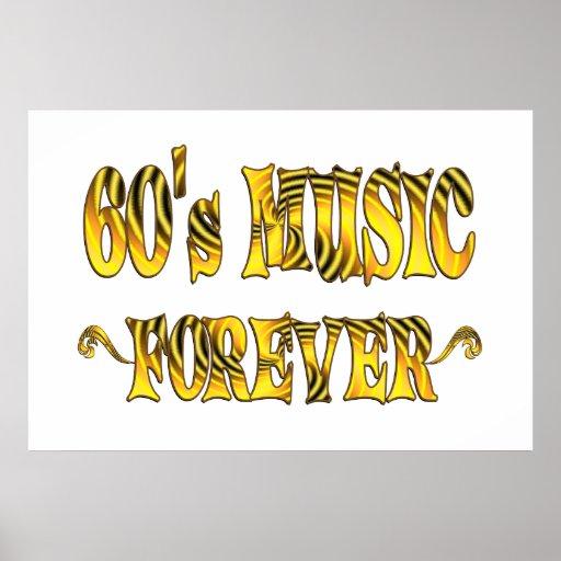 60s Music Forever Print