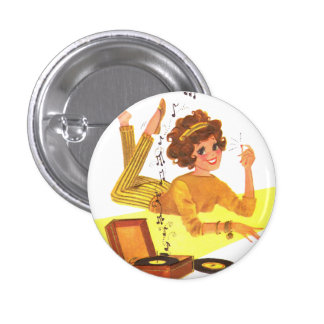 60's Music Girl 3 Cm Round Badge