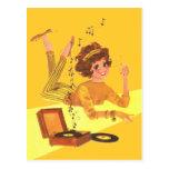 60's Music Girl Postcard