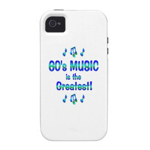 60s Music is the Greatest Vibe iPhone 4 Cases