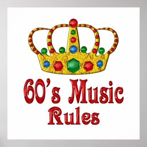 60s Music Rules Print