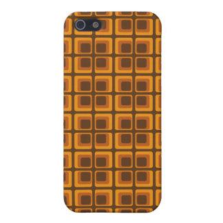 60's orange squares iPhone 5/5S cover