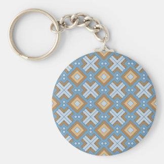 60s pattern MARLENE aqua Key Chain