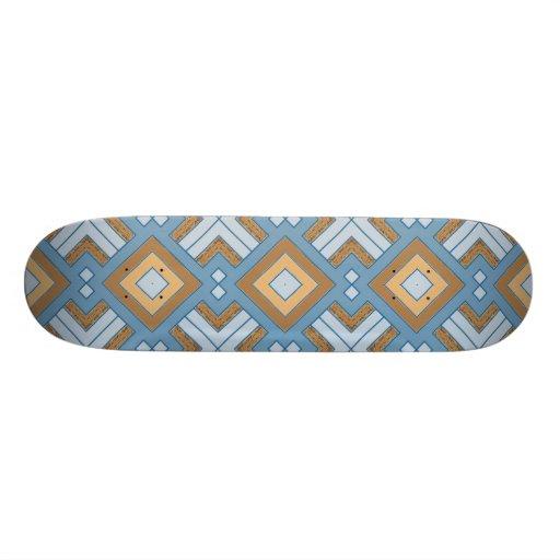 60s pattern MARLENE, aqua. Skateboards