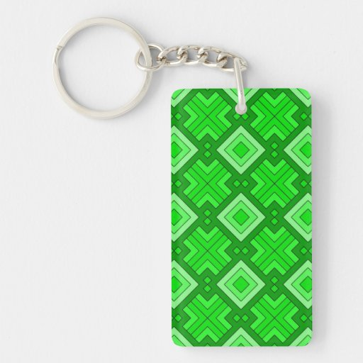 60s pattern MARLENE, green Acrylic Keychains