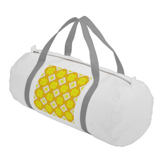 60s pattern MARLENE, yellow Gym Duffel Bag