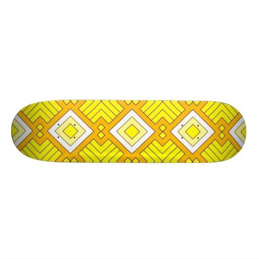 60s pattern MARLENE, yellow Skateboard Decks