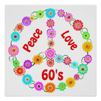 60s Peace Love Poster