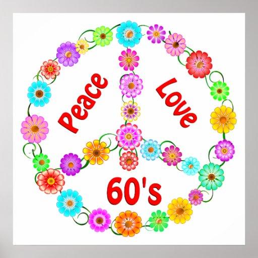 60s Peace Love Print