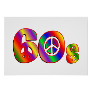 60s Peace Sign Posters