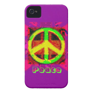 60's Peace Sign Retro Art iPhone Case
