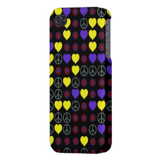 60's Peace Signs, Hearts and Flower Power Design iPhone 4 Covers