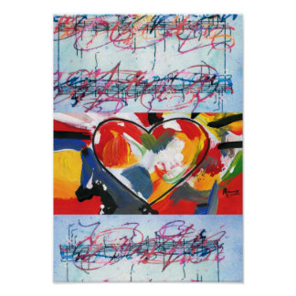 60s Peter Max style I CAN T STOP LOVING YOU Print