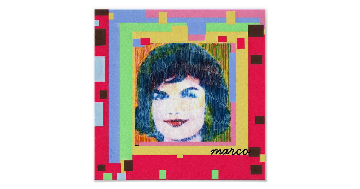 60s Peter Max styleJackie Kennedy painting Posters ... Peter Max 60s