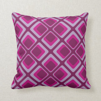 60's pink and purple squares cushion