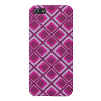 60's pink and purple squares iPhone 5/5S case