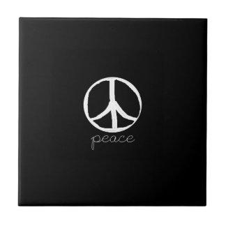 60s Retro Peace Sign Tile
