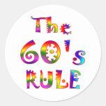 60s Rule Round Sticker