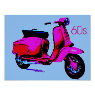 60s scooter poster