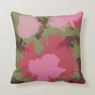 60's Style colorful retro flowers Cushion
