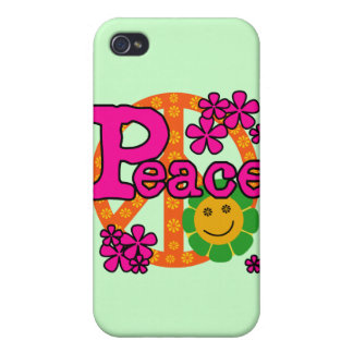 60s Style Peace and Gifts iPhone 4/4S Cases