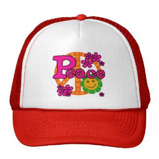60s Style Peace Trucker Hat