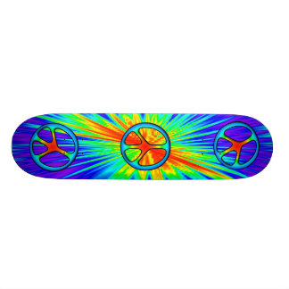 60s Style Peace Sign Skateboard