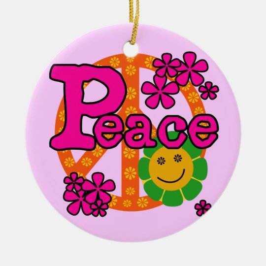 60s Style Peace T-shirts and Gifts Christmas Ornament