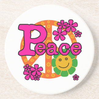60s Style Peace T-shirts and Gifts Coasters