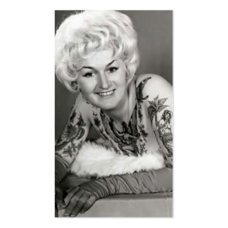 '60s Tattooed Lady Pack Of Standard Business Cards