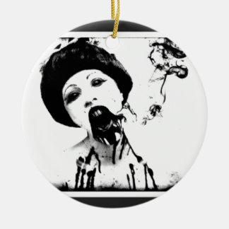 60s Zombie Round Ceramic Decoration