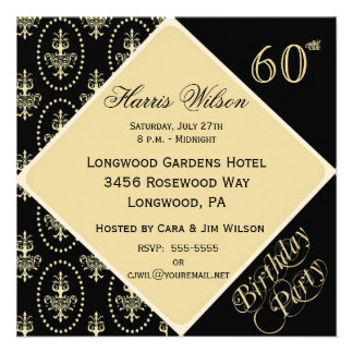 60th-69th Birthday Invitations