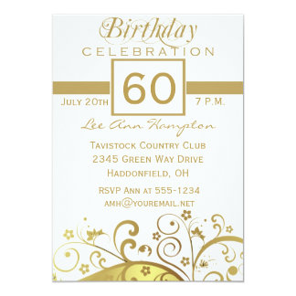 60th - 69th Birthday Party Invitations