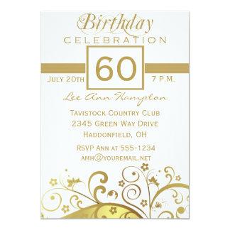 60th - 69th Birthday Party Invitations