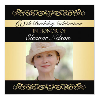 60th-69th Birthday Party Invitations With Photo