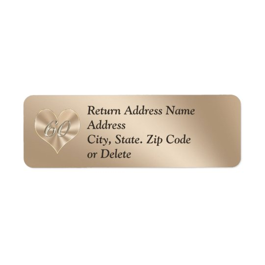 60th Address Labels with Your NAME and ADDRESS