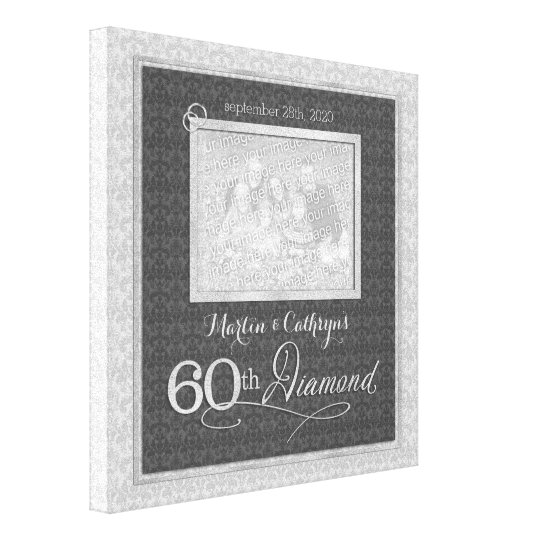 60th Anniversary - 11x11 Personalised Photo Canvas Print