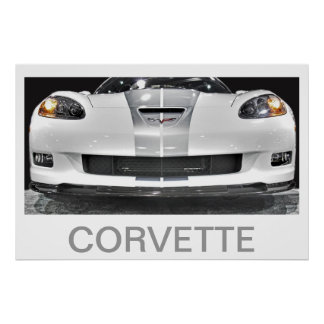 60TH ANNIVERSARY CORVETTE POSTER